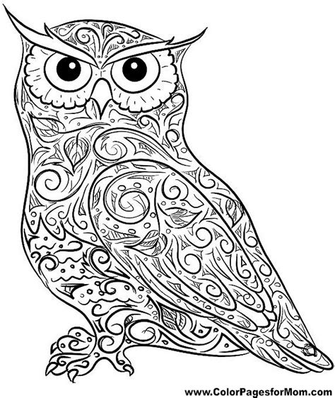 Pictures Of Owls To Color by Owl Coloring Page Getcoloringpages