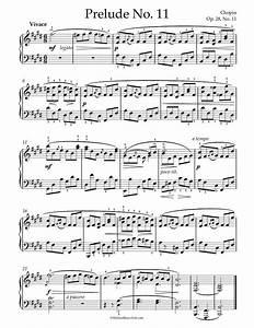 Free Piano Sheet Music - Chopin - Prelude Op  28 No  11
