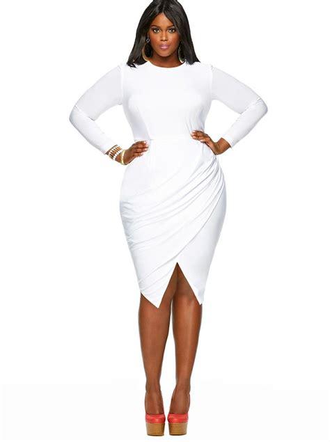 Plus size white dress 5 best - Page 3 of 5 - curvyoutfits.com