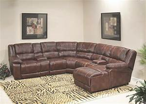 Leather reclining sectional sofa with chaise for Sectional sofa with chaise and cuddler