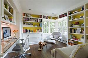 28 dreamy home offices with libraries for creative inspiration With home office library design ideas