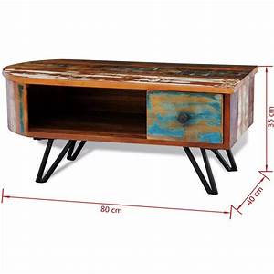 reclaimed solid wood coffee table with iron pin legs With wood coffee table with iron legs