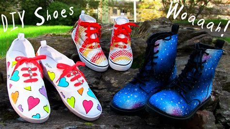Diy Clothes! 3 Diy Shoes Projects (diy Sneakers, Boots
