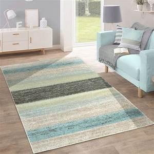 Teppich Blau Grün : designer teppich streifen muster gr n design teppiche ~ Yasmunasinghe.com Haus und Dekorationen