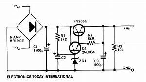 Low Ripple Power Supply Circuit Diagram Electronic Project