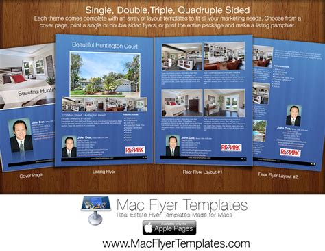 Brochure Design Software For Mac by Sneak Peak Mac Flyer Templates For Real Es With Ideas