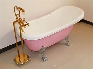 55, Inch, Acrylic, Slipper, Clawfoot, Bathtubs