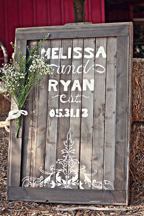 wooden wedding sign fab mood wedding colours