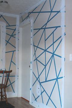 abstract wall design    roll  painters tape   creative wall designs