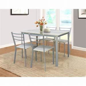 Table de cuisine et salle a manger 4 chaises athenes for Table salle a manger ronde avec rallonge pour petite cuisine Équipée