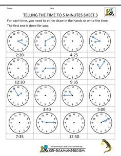 generate random clock worksheets  pre  kindergarten