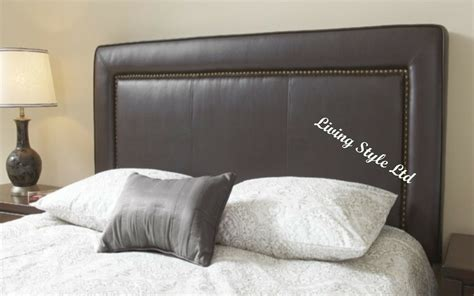 Studded Headboard by Top Quality Studded Bumper Faux Leather Headboard 26