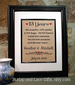 13th anniversary 13 years together years months weeks days With 13 wedding anniversary traditional gifts