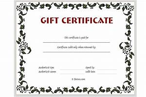 Adolphe sax printable gift certificates for Free downloadable gift certificate templates