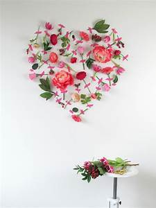 valentine39s day flower wall art With flower wall art