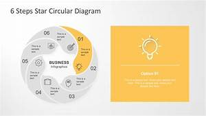 6 Steps Circle Star Diagram