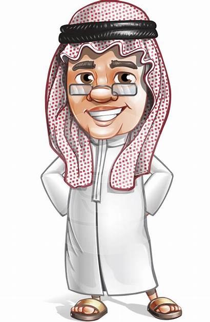 Arab Cartoon Saudi Character Vector Characters Graphicmama