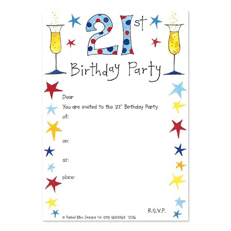 21st Birthday Party Invitations Party Invitation Cards
