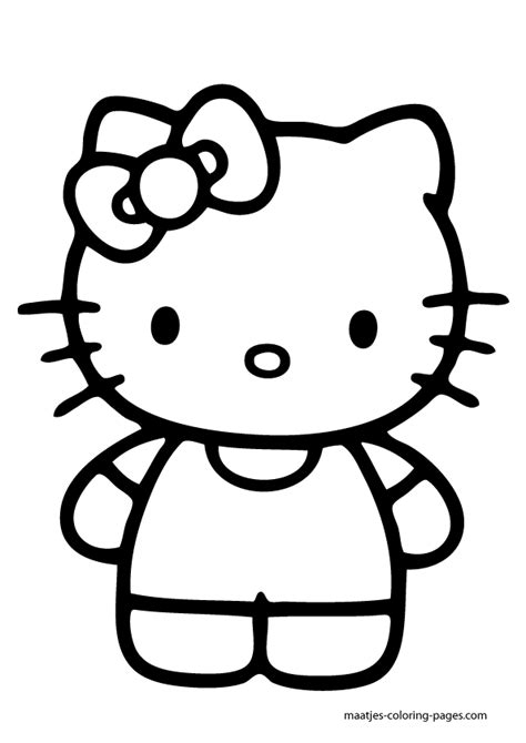 kitty coloring pages cartoons  kitty nerd