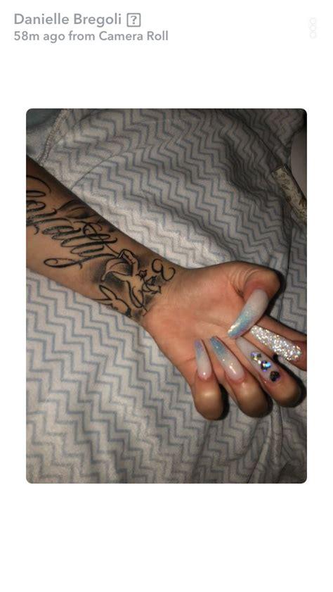 bhad bhabie nails  tatto   long acrylic nails