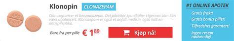 Kjøpe clonazepam 2mg online i Norge