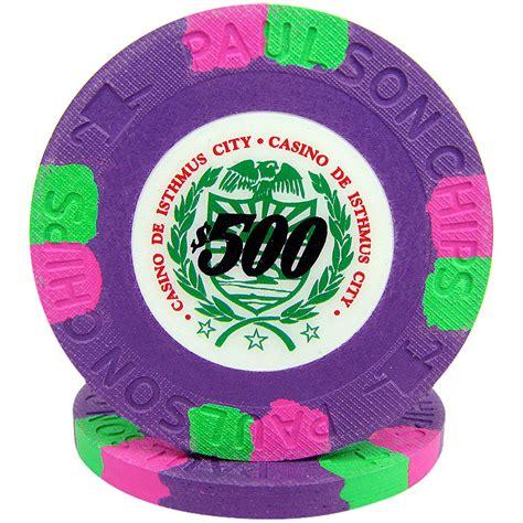 25 Purple Casino De Isthmus Poker Chips