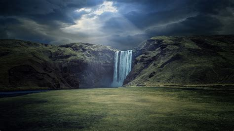 12 Skógafoss Waterfall Hd Wallpapers Backgrounds Wallpaper Abyss