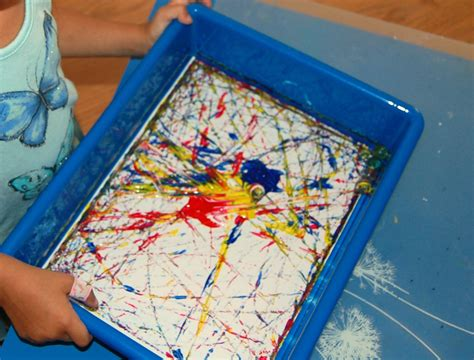marble painting ms s preschool 423 | Art in the Preschool Marble Painting