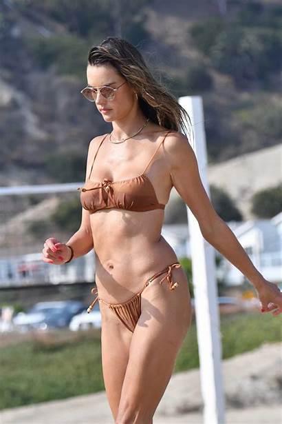 Ambrosio Alessandra Bikini Beach Tan Santa Monica