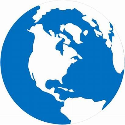 Globe Simple Clip Vector Earth Clipart Planet