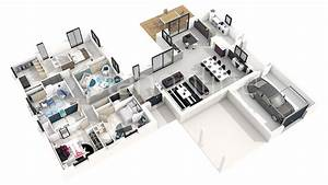 Plan maison 3d moderne for Plan maison moderne 3d 6 architecture dinterieur et plans 3d