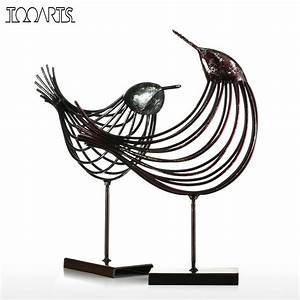 Tooarts Iron Wire Bird Figurine Metal Figurine Bird ...