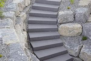Treppe Bauen Garten : betonstein stufen blockstufen und stufenplatten ~ Lizthompson.info Haus und Dekorationen