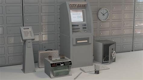 bank accessories cashmachine cgtrader