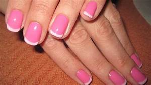 Pink french manicure white tip light pink, base best ...