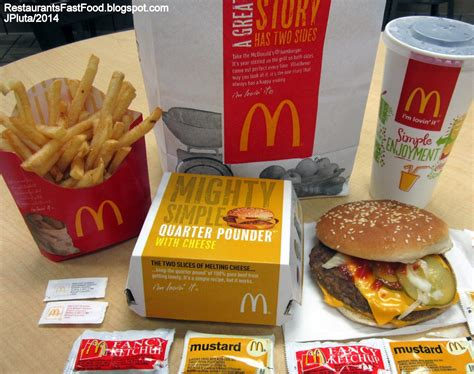 fast food cuisine mcdonald 39 s quarter pounder with cheese hamburger