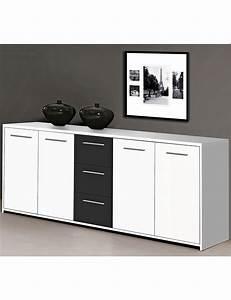Sideboard Weiß Schwarz : sideboard lounge weiss schwarz ~ Orissabook.com Haus und Dekorationen