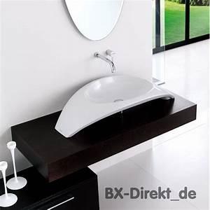 Höhe Von Waschbecken : aufsatzwaschtisch in bogenform waschbecken aus italienischer keramik ~ Bigdaddyawards.com Haus und Dekorationen