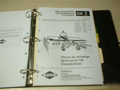 kuhn ga  gm parts manual