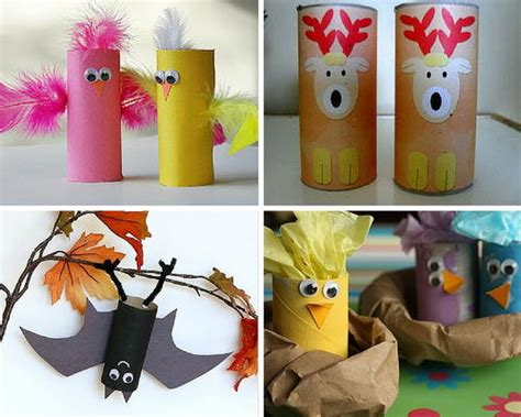 cheap and easy crafts for 9 recycled crafts 677   Animal Crafts for Kids 27 Crafts with Toilet Paper Rolls slider Large500 ID 1161765
