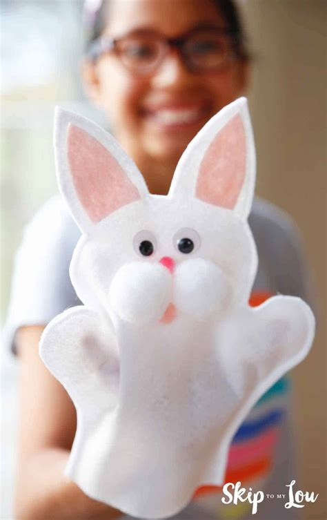 easter fun   cute bunny puppet skip   lou