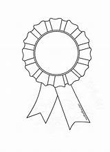 Award Coloring Rosette Template Ribbon Medaille Kleurplaat Colouring Rosettes Templates Sheets Outline Clipart Clip Colorear Awards sketch template