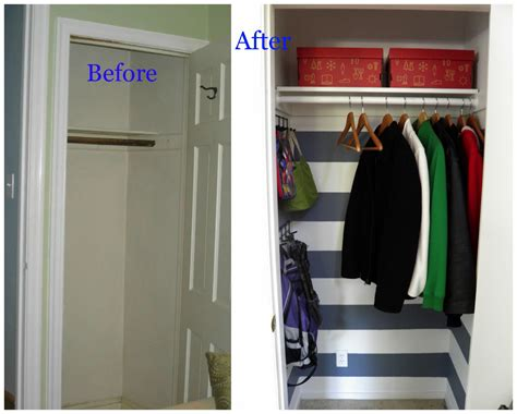weekend tweaks coat closet makeover