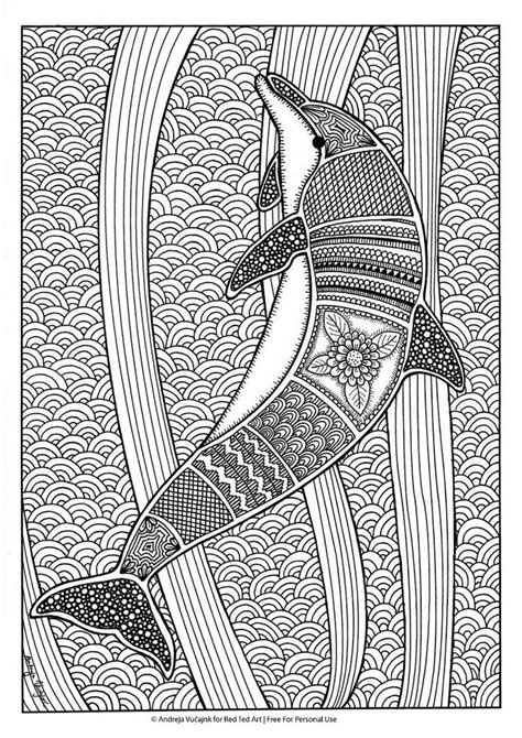 coloring for creativity free colouring pages for grown ups dolphins coloring