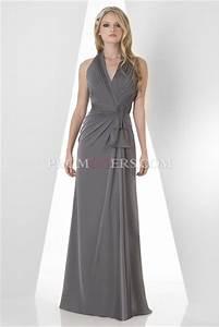 Dress: bridesmaid, gray prom dresses, halter neck, long ...