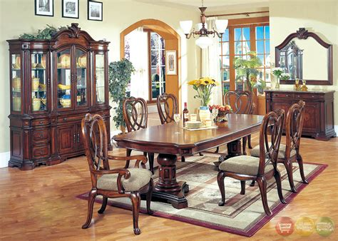 Erin Traditional Medium Wood Formal Dining Set With Buffet