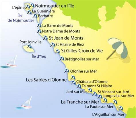 Carte De Plage Atlantique by Les Plages Du Sud Vend 233 E