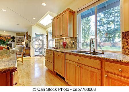 cuisine erable clair photo cuisine doré érable bois image images photo