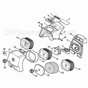 Stihl Ms 650 Chainsaw  Ms650  Parts Diagram  Shroud
