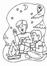 Coloring Pages Lag Baomer Camping Preschool Marshmallows Colouring Roast Popular Coloringhome sketch template